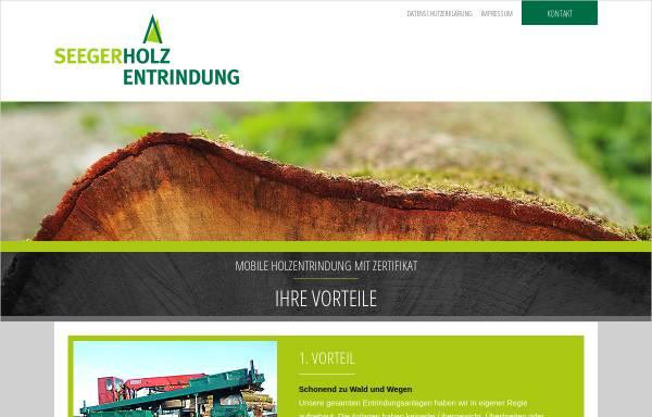 Vorschau von www.seeger-holzentrindung.de, Fritz Seeger GmbH Jettingen