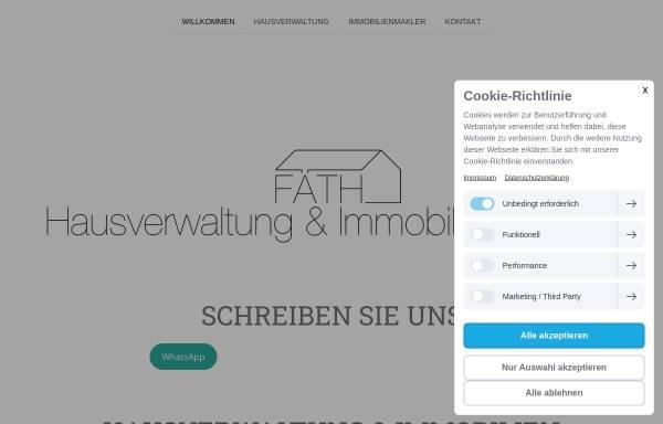 Vorschau von www.faethhausverwaltung.de, Fäth Hausverwaltung & Immobilien GmbH