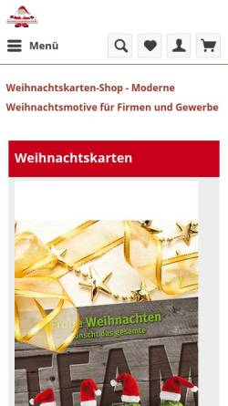 Vorschau der mobilen Webseite www.weihnachtskarten-shop.com, Weihnachtskarten-Shop.com