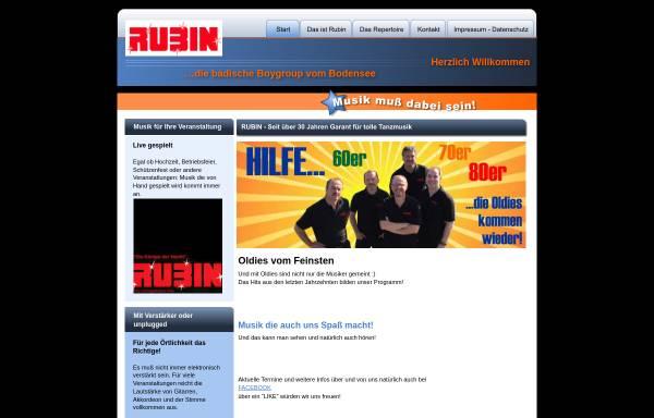 Vorschau von www.tanzband-rubin.de, Rubin