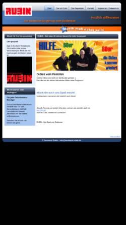Vorschau der mobilen Webseite www.tanzband-rubin.de, Rubin
