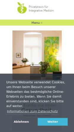 Vorschau der mobilen Webseite www.drguenes.de, Günes, Dr. med. Yusuf