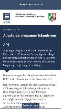 Vorschau der mobilen Webseite www.mik.nrw.de, Kommunaldatenbank NRW