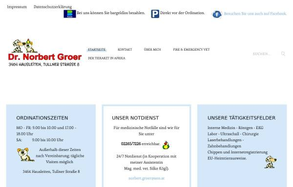 Vorschau von www.tierarzt-norbert-groer.at, Dr. Norbert Groer, Fachtierarzt für Kleintiere