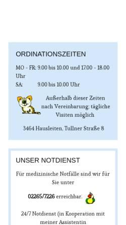 Vorschau der mobilen Webseite www.tierarzt-norbert-groer.at, Dr. Norbert Groer, Fachtierarzt für Kleintiere