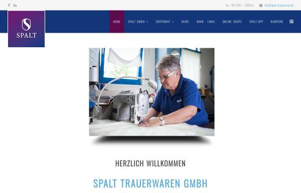 Vorschau von www.spalt-trauerwaren.de, Spalt Trauerwaren GmbH
