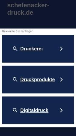 Vorschau der mobilen Webseite www.schefenacker-druck.de, Schefenacker GmbH & Co. KG
