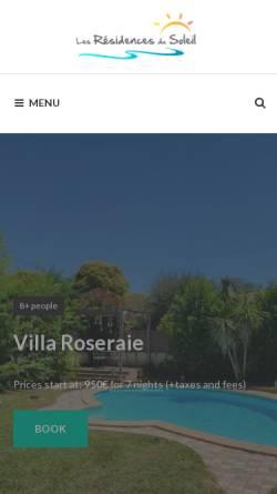 Vorschau der mobilen Webseite www.residence-location.com, Agentur