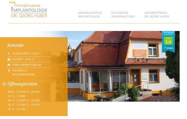 Vorschau von www.zahnarzt-dingolfing.com, Dr. Georg Huber Zahnarzt