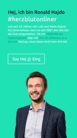 Vorschau der mobilen Webseite www.hajdo.de, hajdo.design Mediengestaltung