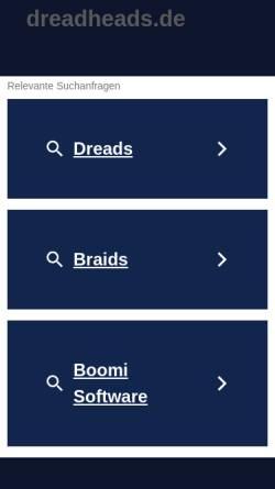 Vorschau der mobilen Webseite dreadheads.de, Dreadheads.de
