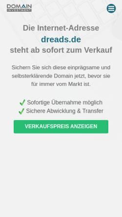 Vorschau der mobilen Webseite www.dreads.de, Dreads.de