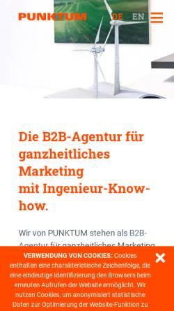 Vorschau der mobilen Webseite www.punktum.eu, Punktum Werbeagentur GmbH