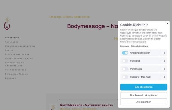 Vorschau von www.bodymessage.de, Bodymessage - Naturheilpraxis für Frauen