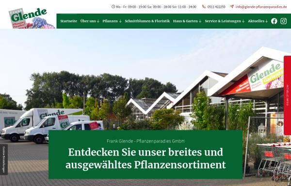 Vorschau von www.glende-pflanzenparadies.de, Frank Glende Pflanzenparadies GmbH