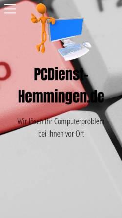 Vorschau der mobilen Webseite www.pcdienst-hemmingen.de, PCDienst-Hemmingen.de - Inh. Maik Hencke