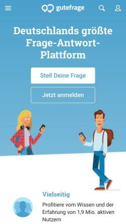 Vorschau der mobilen Webseite www.gutefrage.net, Gutefrage.net