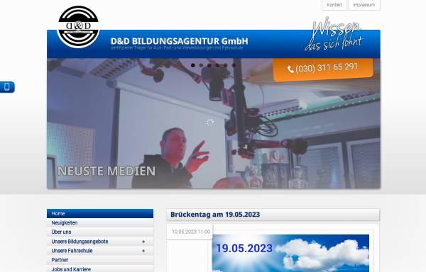 Vorschau von www.dd-bildungsagentur.de, D&D Bildungsagentur GmbH
