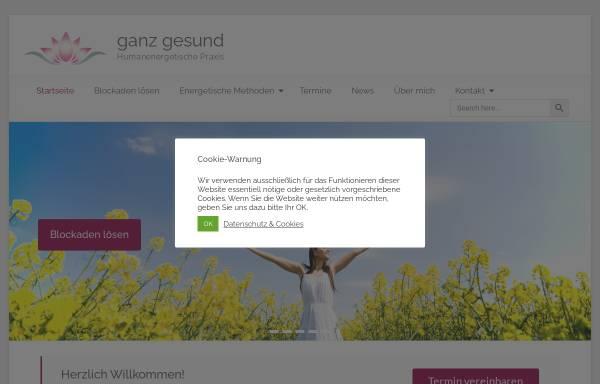 Vorschau von www.ganz-gesund.eu, Mag. Heidemarie Walbert