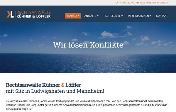 Vorschau von rechtsanwalt-mannheim-ludwigshafen.de, Rechtsanwälte Kühner & Löffler