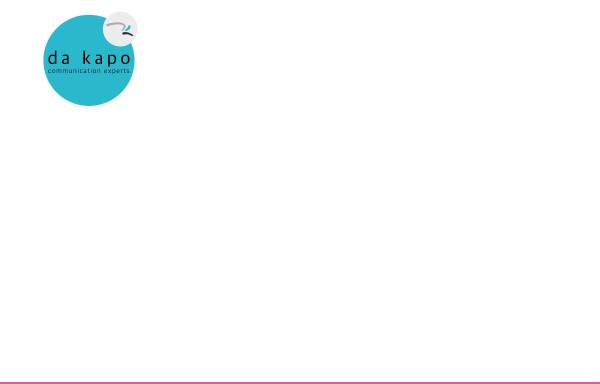 Vorschau von www.zukunftsmarke.de, Da kapo - Kreative Werbung GmbH