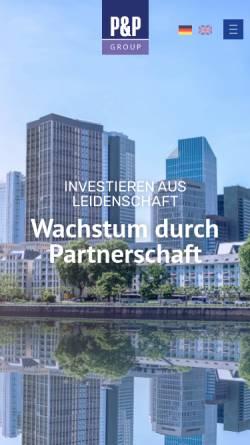 Vorschau der mobilen Webseite www.pp-gruppe.de, P&P Gruppe Bayern GmbH