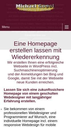 Vorschau der mobilen Webseite www.michael-gogol.de, Michael Gogol