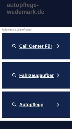 Vorschau der mobilen Webseite www.autopflege-wedemark.de, Önders Autopflege Wedemark GmbH