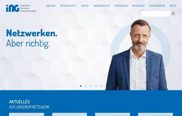 Vorschau von www.ing-rlp.de, Ingenieurkammer Rheinland-Pfalz