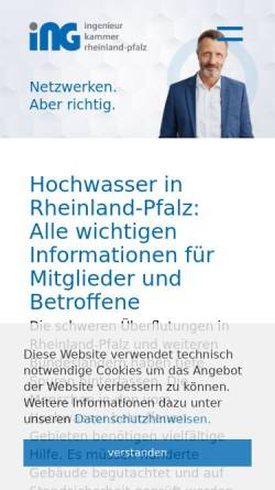 Vorschau der mobilen Webseite www.ing-rlp.de, Ingenieurkammer Rheinland-Pfalz