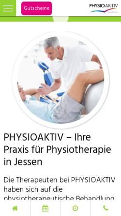 Vorschau der mobilen Webseite www.physioaktiv-jessen.de, Physioaktiv Jessen