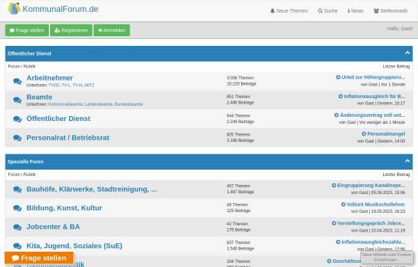 Vorschau von www.kommunalforum.de, KommunalForum
