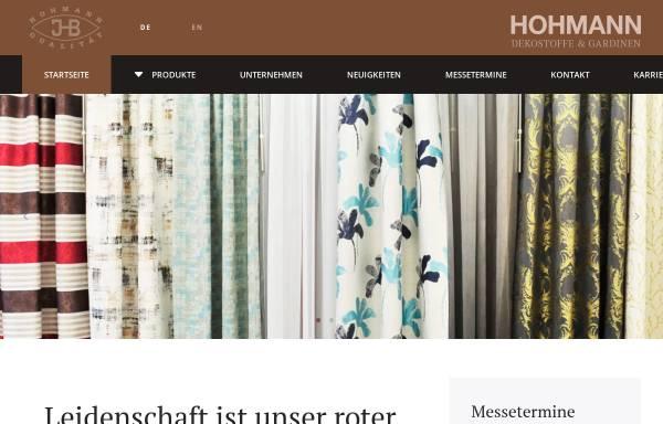 Vorschau von www.hohmann-weberei.de, Weberei Hohmann