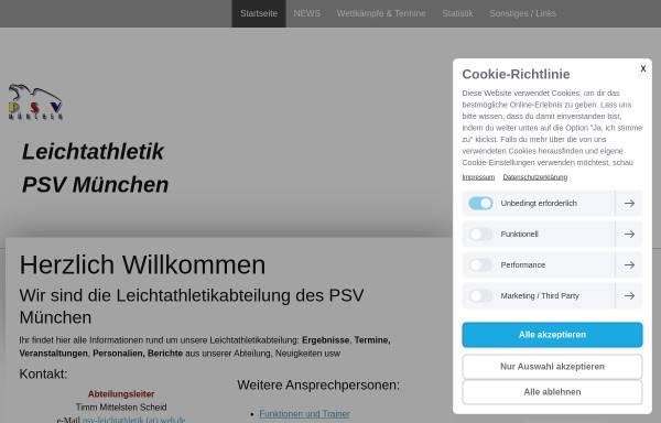 Vorschau von leichtathletik-psv-muenchen.jimdo.com, PSV München - Leichtathletik