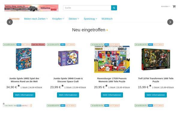Vorschau von www.malennachzahlen-mona.de, Malen nach Zahlen