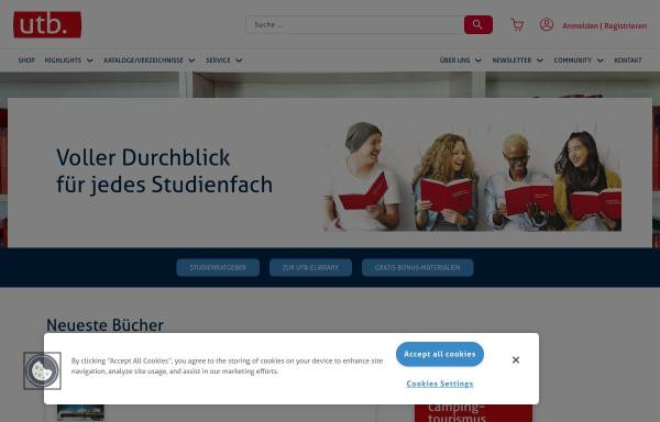 Vorschau von www.utb.de, UTB Uni-Taschenbücher GmbH