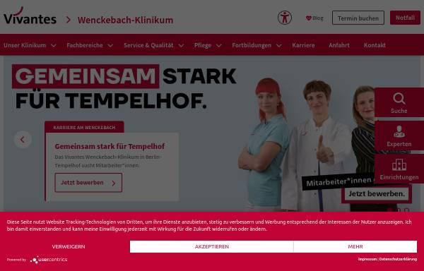 Vorschau von www.vivantes.de, Vivantes Wenckebach-Klinikum
