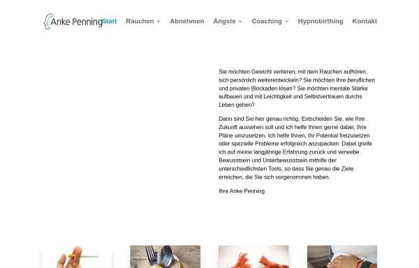Vorschau von www.hypnose-erfolg.net, Hypnose Praxis Anke Penning