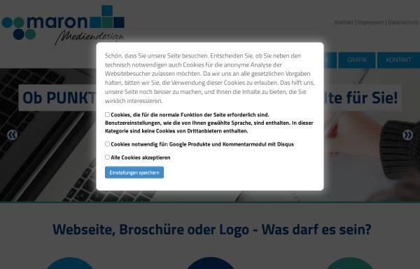 Vorschau von www.maron-webdesign.de, Maron mediendesign, Manuela Maron