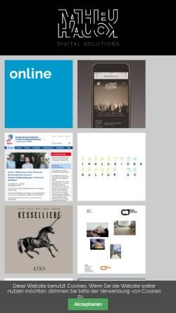 Vorschau der mobilen Webseite www.mathieu-hauck.de, Online- & Printmedien, Mathieu Hauck
