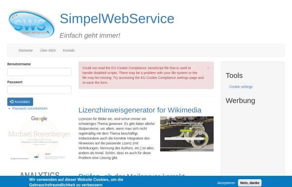Vorschau von simpelwebservice.de, Simpelwebservice, Michael Rosenberger