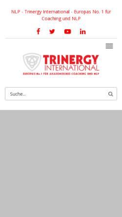 Vorschau der mobilen Webseite trinergy.at, Trinergy International