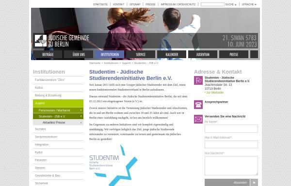 Vorschau von www.jg-berlin.org, Studentim - JSB