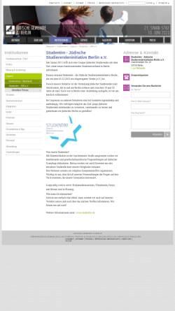 Vorschau der mobilen Webseite www.jg-berlin.org, Studentim - JSB
