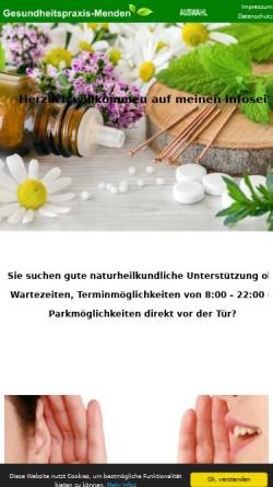 Vorschau der mobilen Webseite www.gesundheitspraxis-menden.de, Preuss, Olaf