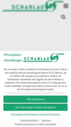 Vorschau der mobilen Webseite www.scharlau.de, CKS Megaprint ist Scharlau