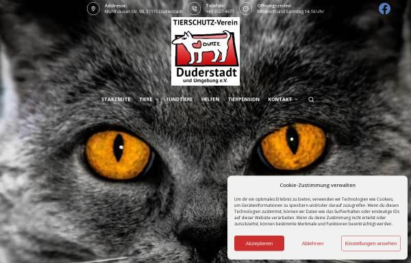 Vorschau von tierheim-duderstadt.de, Tierschutzverein Duderstadt u.U.e.V.