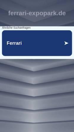 Vorschau der mobilen Webseite www.ferrari-expopark.de, Moll Sportwagen Hannover GmbH