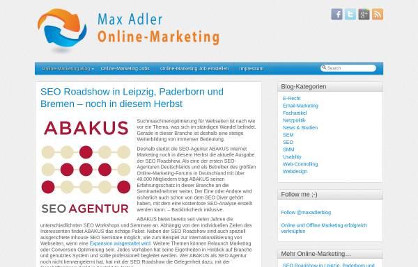 Vorschau von www.online-marketing-blog.eu, Online-Marketing, Max Adler