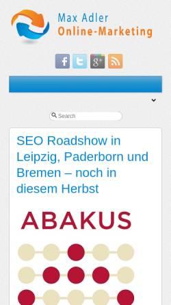 Vorschau der mobilen Webseite www.online-marketing-blog.eu, Online-Marketing, Max Adler